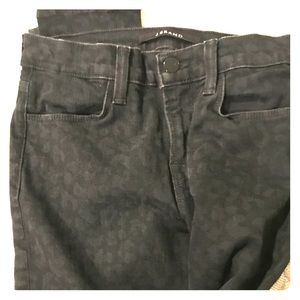 JBrand black leopard never worn